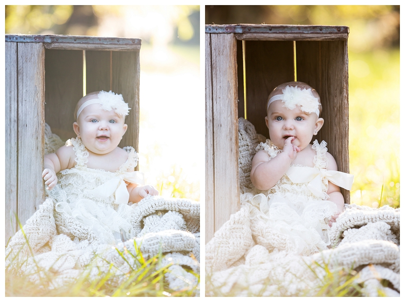 Baby Harper 6 month picture session Captured Memories by Esta Photographer Lake City Fl infant pics (1)