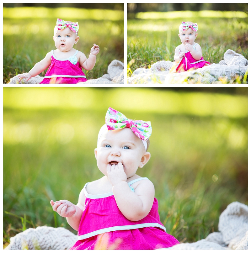 Baby Harper 6 month picture session Captured Memories by Esta Photographer Lake City Fl infant pics (4)